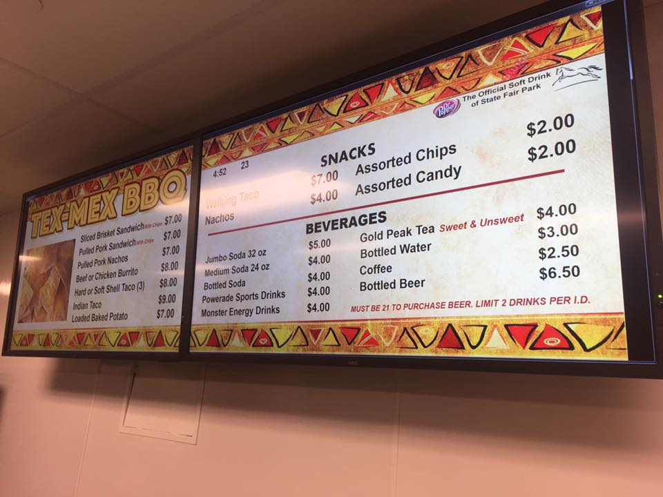 OSF Menu Board